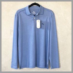 NWT Tommy Bahama Sail Fish Long Sleeve Polo Shirt